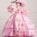 Jednodílné/Šaty Klasická a tradiční lolita Steampunk® / Viktoria Tarzı Cosplay Lolita šaty Růžová Tisk / Retro Dlouhé rukávy Long Length