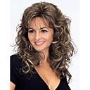 vysoce kvalitní módní střední dlouhými vlnitými parukou žena je syntetický paruky vlasy