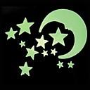 Tvary Samolepky na zeď Světelné samolepky na zeď , PVC moon:8CM,   big star:4.4CM   small stadr:3.5CM