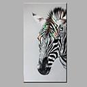 jedna moderna apstraktna čista ruka privući spremni objesiti ukrasne zebrastog ulje na platnu