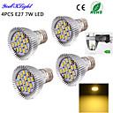 7W E26/E27 LED reflektori A50 15 SMD 5630 600 lm Toplo bijelo Ukrasno AC 220-240 / AC 110-130 V 4 kom.