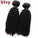 """Vivy 8 """"-30"""" 2 svazky Kinky kudrnaté # 1b brazilský Remy prodlužování vlasů vlasy brazilské vlasy panna tkát lidské vlasy"""