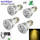 5W E26/E27 LED bodovky A50 5 High Power LED 450 lm Teplá bílá Ozdobné AC 220-240 / AC 110-130 V 4 ks