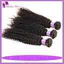 人間の髪編む ブラジリアンヘア Kinky Curly 6ヶ月 3個 ヘア織り