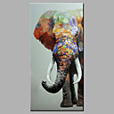 Ručno oslikana Životinja Pop Vertikalno,Moderna Jedna ploha Hang oslikana uljanim bojama For Početna Dekoracija