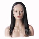 nový přírůstek 100% nezpracované brazilianhuman vlasy 12-28inch hedvábně rovné přírodní černá plné krajka paruka