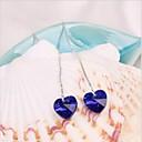 ドロップイヤリング 幸福 恋 クリスタル 合金 ハート ダークブルー グリーン ピンク ライトブルー ジュエリー のために 結婚式 パーティー 日常 カジュアル 1セット