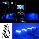 ziqiao 3LED auto nabití 12V 4 w záře vnitřní dekorativní 4v1 atmosféru modré světlo lampy atmosféru uvnitř patici