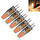 1.5W G4 LED svíčky T 1 COB 190-210 lm Teplá bílá / Chladná bílá Ozdobné DC 12 / AC 12 V 5 ks