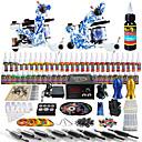 solong tetování kompletní tetování Kit 2 profesionální stroje 54 inkousty napájení pedálů jehly úchytky tipy tk262
