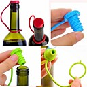 kuchyňská linka anti-ztracené tlačítko silikonové závěsné koření pivo víno korkovou zátkou zástrčka uzávěrem kryt (ramdon barva)