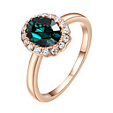 Prstenje imitacija Emerald Moda Vjenčanje / Party Jewelry Legura Žene Prstenje sa stavom 1pc,Univerzalna veličina Srebrna / Rose Gold