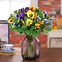 家の装飾のための1 piecehigh品質蝶蘭の花シルクフラワーシルクフラワー造花(黄色)