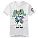 Inspirovaný Date A Live Yoshino Anime Cosplay kostýmy Cosplay T-shirt Tisk Czarny Krátké rukávy Trička