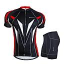 NUCKILY® Biciklistička majica s kratkim hlačama Muškarci Kratki rukav BiciklProzračnost / Vjetronepropusnost / Anatomski dizajn /