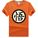 Inspirovaný Dragon Ball Saiyan Anime Cosplay kostýmy Cosplay T-shirt Tisk Czarny Krátké rukávy Trička