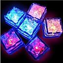 12pcs plava / crvena / zelena / ružičasta / žuta / RGB / prirodni bijeli smjena dovela tekući senzor svjetla kockica leda oblik