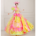 Jednodílné/Šaty Klasická a tradiční lolita Steampunk® / Viktoria Tarzı Cosplay Lolita šaty Oranžová Jednobarevné Bez rukávů Long Length