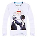 Inspirirana Tokio Ghoul Ken Kaneki Anime Cosplay nošnje Cosplay Tops/Bottoms Print Bijela Dugi rukav Top