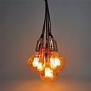 6 hlavy retro závěsná svítidla, měděné s vypínačem kutilství art obývací pokoj jídelna / vstup / předsíň svítidla