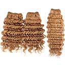 3pcs / puno 110 g / kom, 7a # 27 100% djevičansko Brazilski ljudske kose plete snopove kose potke, novi duboko val, šareni