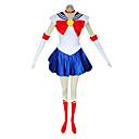 Inspirirana Sailor Moon Sailor Moon Anime Cosplay nošnje Cosplay Suits Kolaž Plava Bez rukava Haljina / Gloves / Čarape