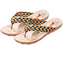 Women's Shoes PU Flat Heel Slippers Sandals / Slippers Outdoor / Dress / Casual Black / Yellow / Pink