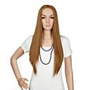 luonnollinen pitkä pituus ruskea suosittu suora synteettinen peruukki nainen