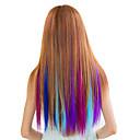 synthetische barevný klip v prodlužování vlasů 1 klipy 7color