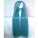2 boje novog stila cosplay vlasulja sintetičke kose perika duge ravne animirani perika strana perika
