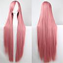 Europa i Sjedinjene Države nova boja perika 100cm visoka temperatura dima ružičasta svilena duga ravna kosa perika