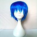 Vrhunski 2 boje Cosplay perika sintetičke kose perika čovjeku kratke ravne animirani perika strana perika