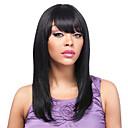 入荷ストレート前髪10-30inchシルクは、フロントの女性のための100%ブラジルのバージン人毛U部分のかつらをかつらレース