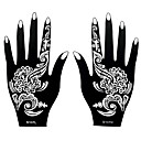 2ks henna airbrush šablony netoxický přechodný tisk pro ženy ruční umění tetování nálepka S107