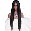 7a svilenkasto ravni pune čipke perika Brazilski djevičansko kosa ravna glueless ljudske kose perika s baby kose za crne žene