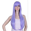 luonnollinen pitkä pituus violetti suosittu suora synteettinen peruukki nainen