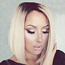 dva tón střední dlouhá vysoce kvalitní rovné vlasy bobo žena elegantní móda stín syntetický celebrity paruky