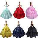Party/Večer Haljine Za Barbie lutka Crvena / Crna / Roza / Žuta / Ink Blue / Cyan Haljine Za Djevojka je Doll igračkama