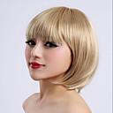 antény bez patice blond barva krátká délka vysoce kvalitní přírodní přímé syntetické paruky