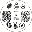 slatka Uskrs tema zec jaje slatka zec nail art otiskivanje predložak slike Ploča rođen prilično bb # 60
