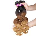 """3 ks / lot 16 """"-24"""" 7a 3tbrazilian panna tělo vlna prodlužování vlasů 100% nezpracované panna lidský ombre vlasy spřádá"""