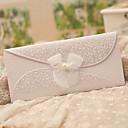 Přizpůsobeno složený třikrát Svatební Pozvánky Pozvánky-50 Kusů v sadě Klasický styl / Motýlí styl / Pohádkový motiv Perlový papír Stuhy
