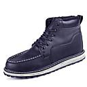 Boty-Kůže-Pohodlné Bootie Módní boty-Pánské-Černá Hnědá-Outdoor Běžné Atletika-Plochá podrážka