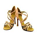 Može se prilagoditi - Ženske - Plesne cipele - Latin / Balska sala - Satin - Prilagođeno Heel - Crn