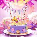 誕生日 パーティー食器-1ピース/セット ケーキ用小物 タグ コートボール紙 素朴なテーマ Other 無し マルチカラー