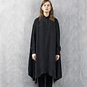 rizhuo ženske povremeni / dnevno jednostavan za proljeće / jesen shirtsolid ovratnik košulje dugih rukava crne rayon medij