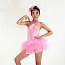 Dječji-Haljine- zaBalet(Pink,Spandex / Polyester / Šljokičasti,Upoprijeko / Paillettes / Cvijet (i) / Šljokice)