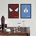 Crtani film Uokvireno platno / Uokvireni set Wall Art,PVC Crna Stalak nije uključen s Frame Wall Art