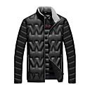 Muži Standardní Dlouhý kabát Jednoduché / Aktivní Běžné/Denní / Dovolená Jednobarevné-Kabát Nylon Prachové kachní peří bílé Dlouhý rukáv