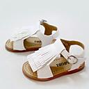 Za djevojčice Sandale Ljeto PU Ležerne prilike Ravna potpetica S resicama Ružičasta / Bijela Hodanje